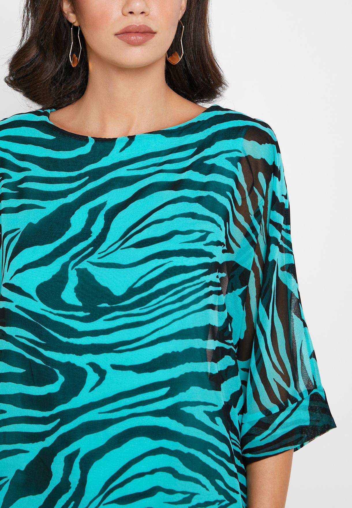 Zebra Overlay Top
