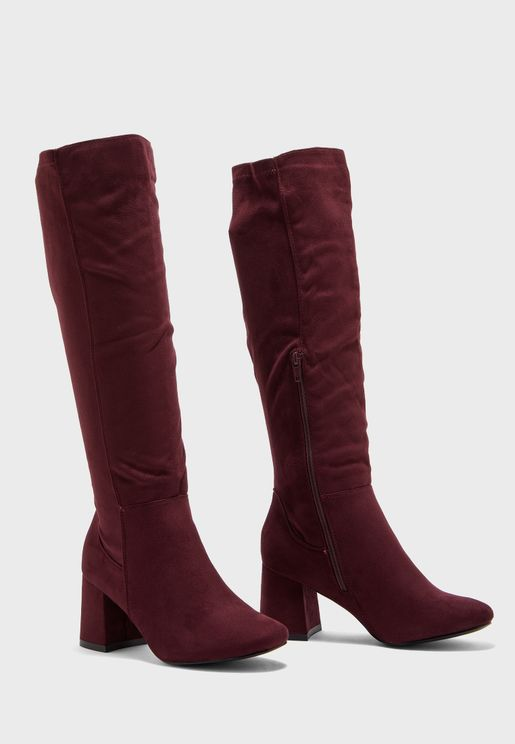 Wide Fit Knee High Boot