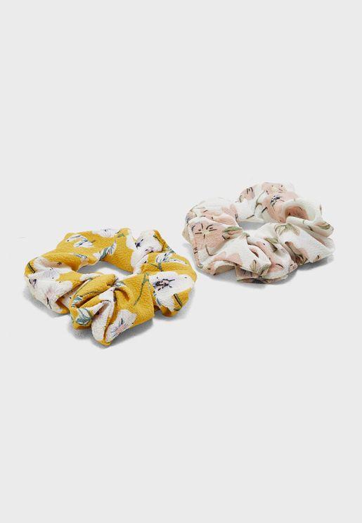 Multipack Floral Scrunchie