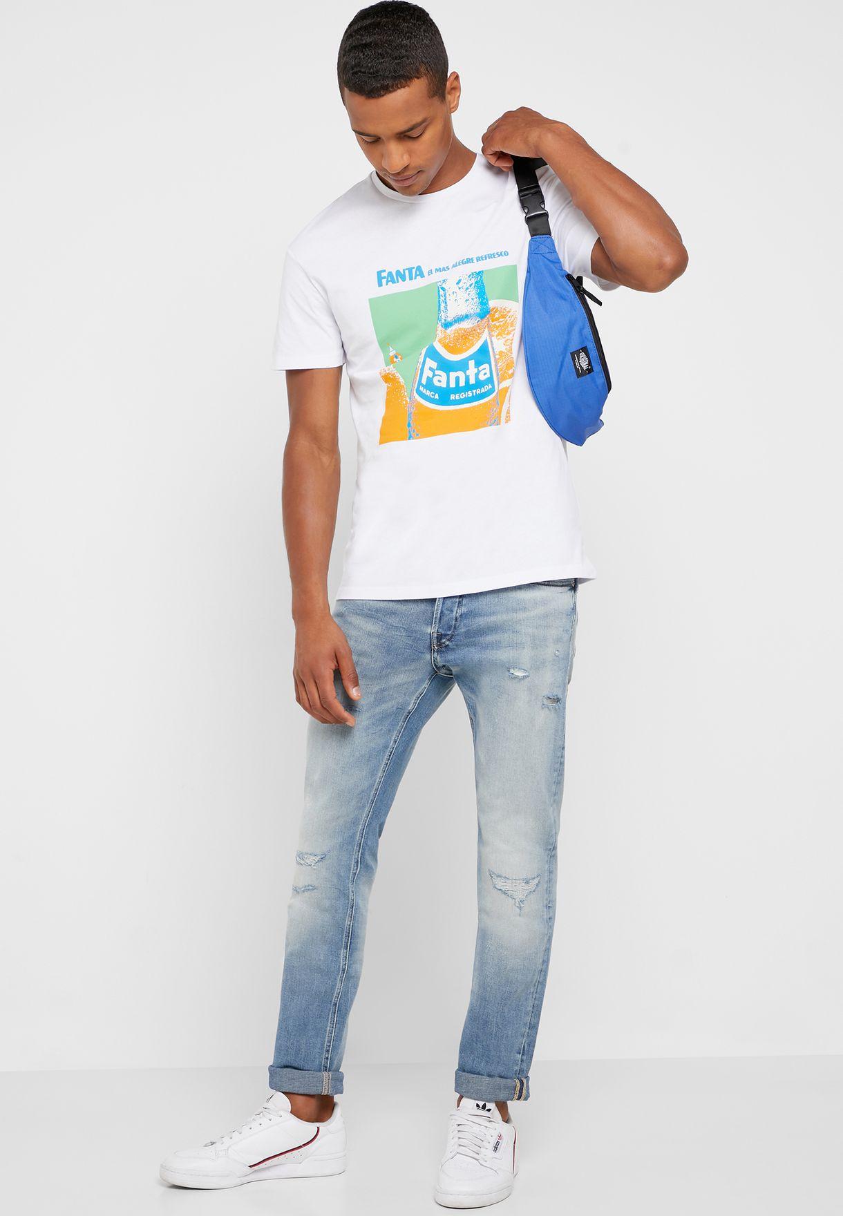 Fanta Print Crew Neck T-Shirt