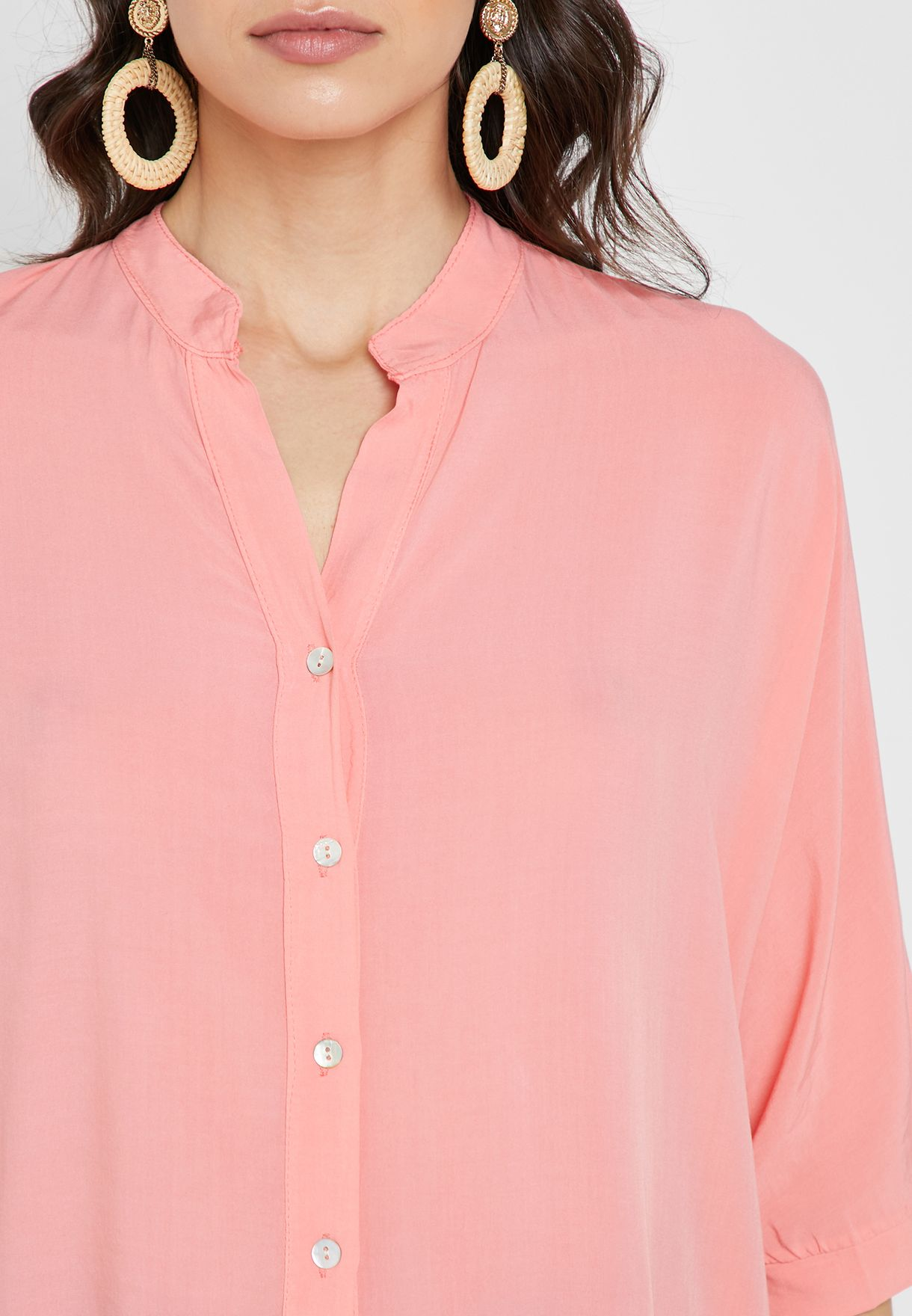 Oversized Placket Shirt