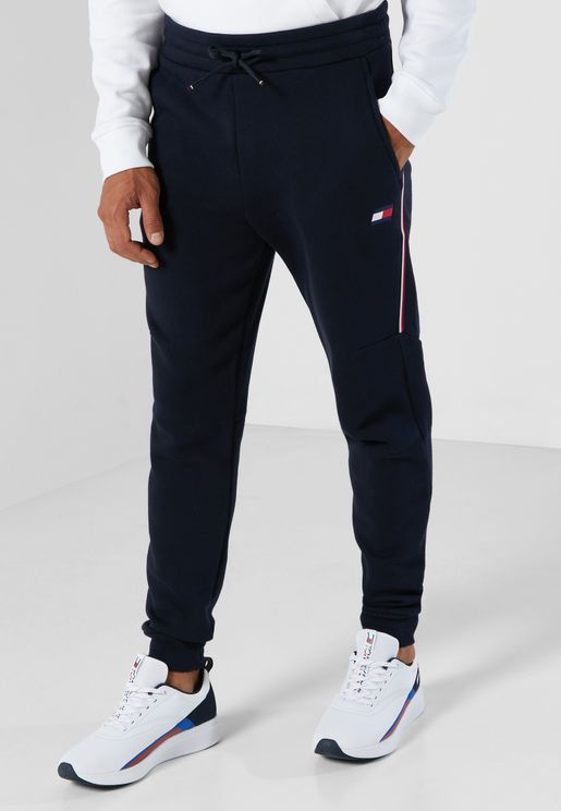 Stripe Cuffed Sweatpants