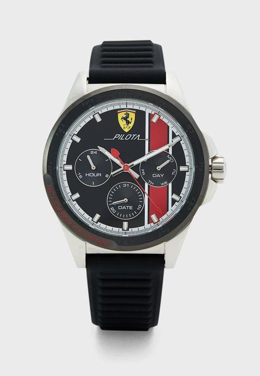 ساعة بحزام سيليكون