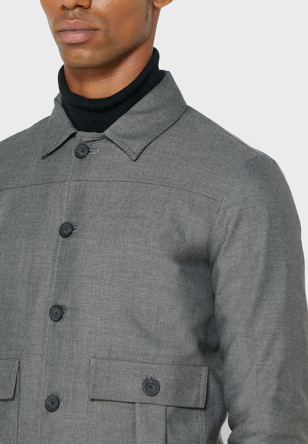 Double Pocket Short Coat