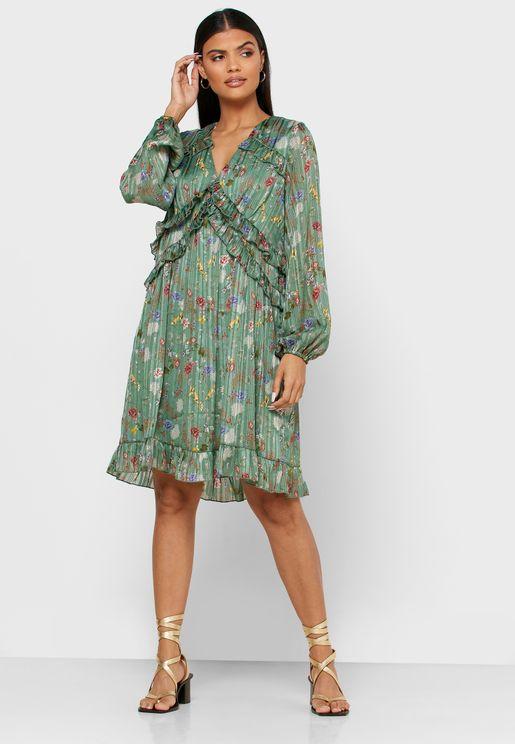 فستان بالياف ميتاليك