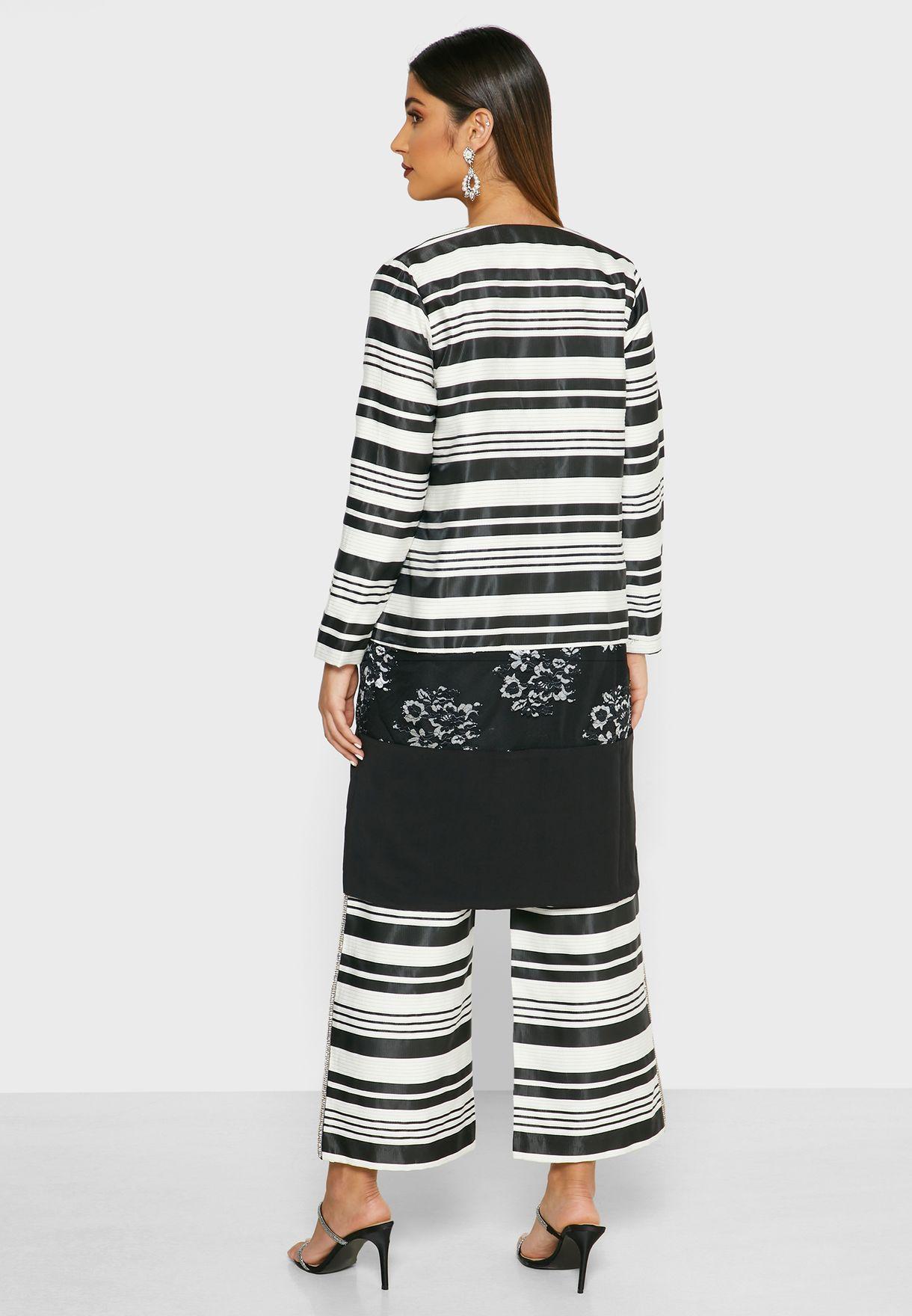 Striped Logline Jacket
