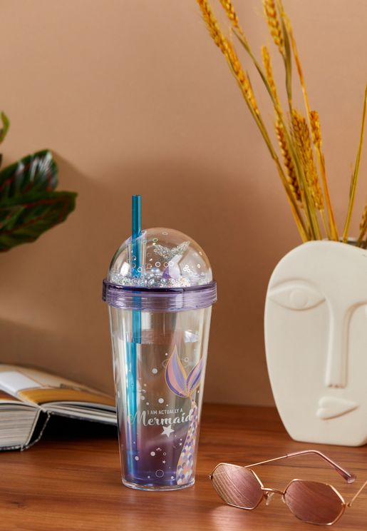 Mermaid Tumbler With Straw