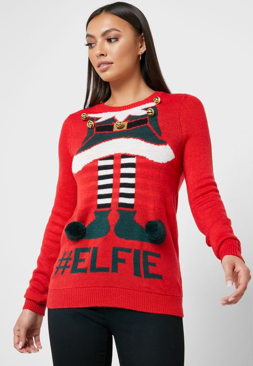 Elf Printed Sweater