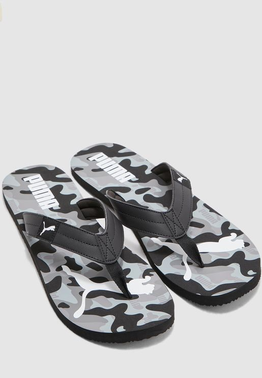 Cozy Rebel Camo Flip-Flops
