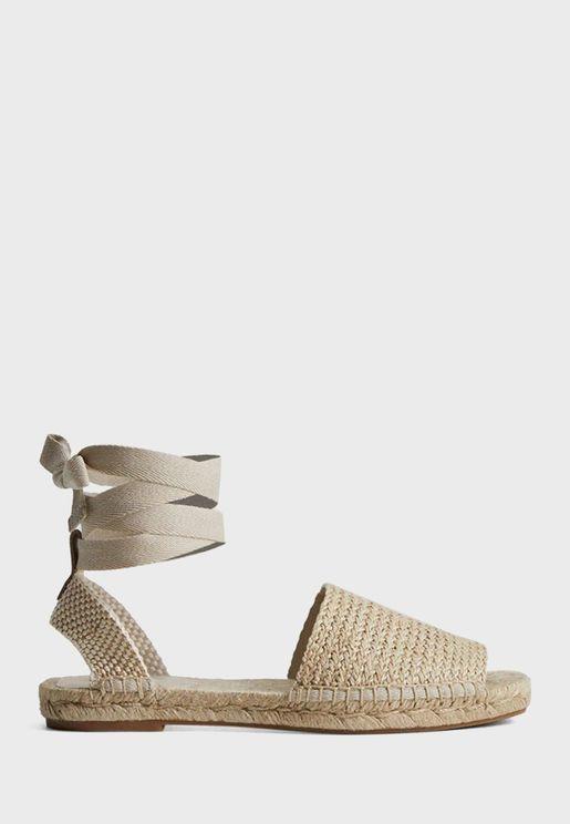 Sling Back Espadrille Flat Sandal