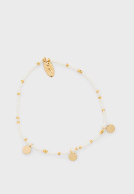 Seedbead & Coin Bracelet