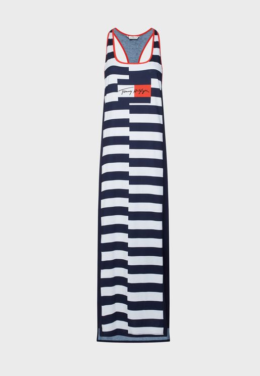 فستان بحر مخطط