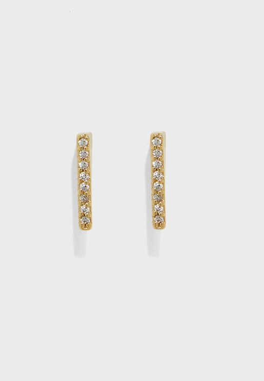 GP Fine Crystal Slice Earrings