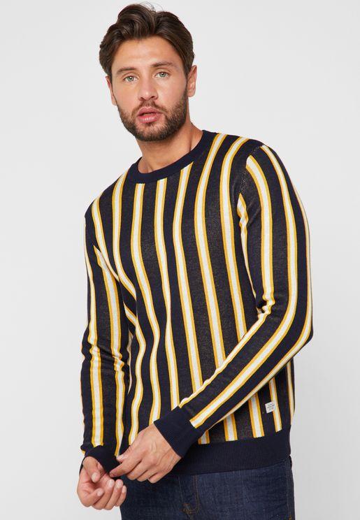 Vertical Stripe Sweater