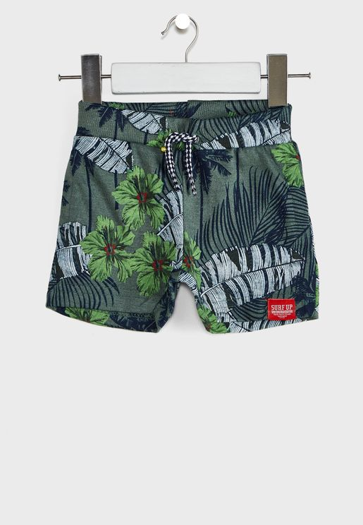 Kids Palm Leaf Shorts