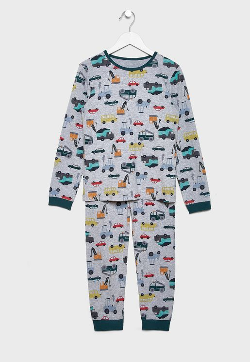 Kids Printed T-Shirt + Pyjama Set