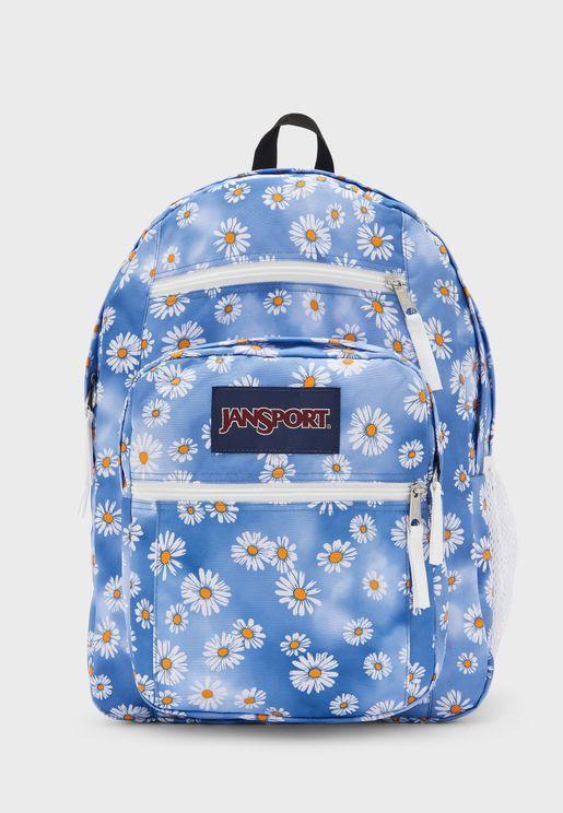 Flower Print Big Student Backpack