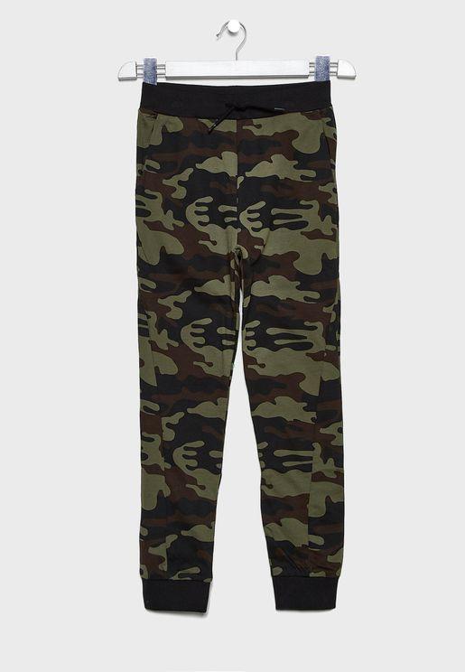 Kids Camo Printed Sweatpants