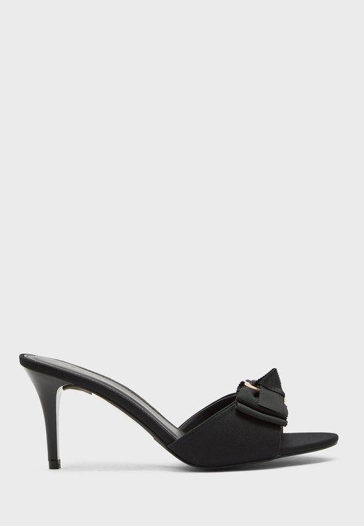 Buckle Detail Mid Heel Sandal