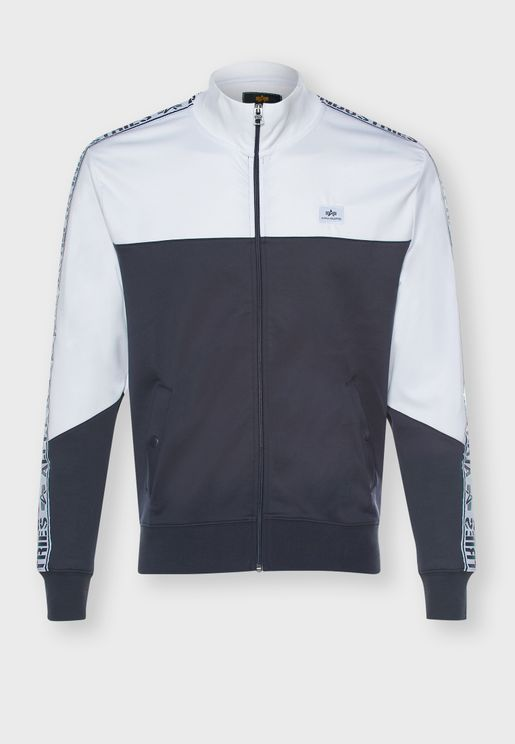 Side Woven Tape Track Jacket