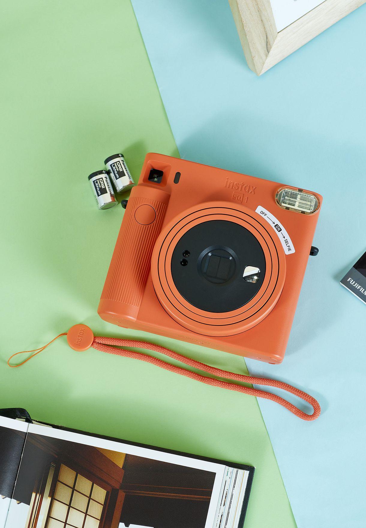 Instax Square Camera Sq1 Terracotta Orange Camera