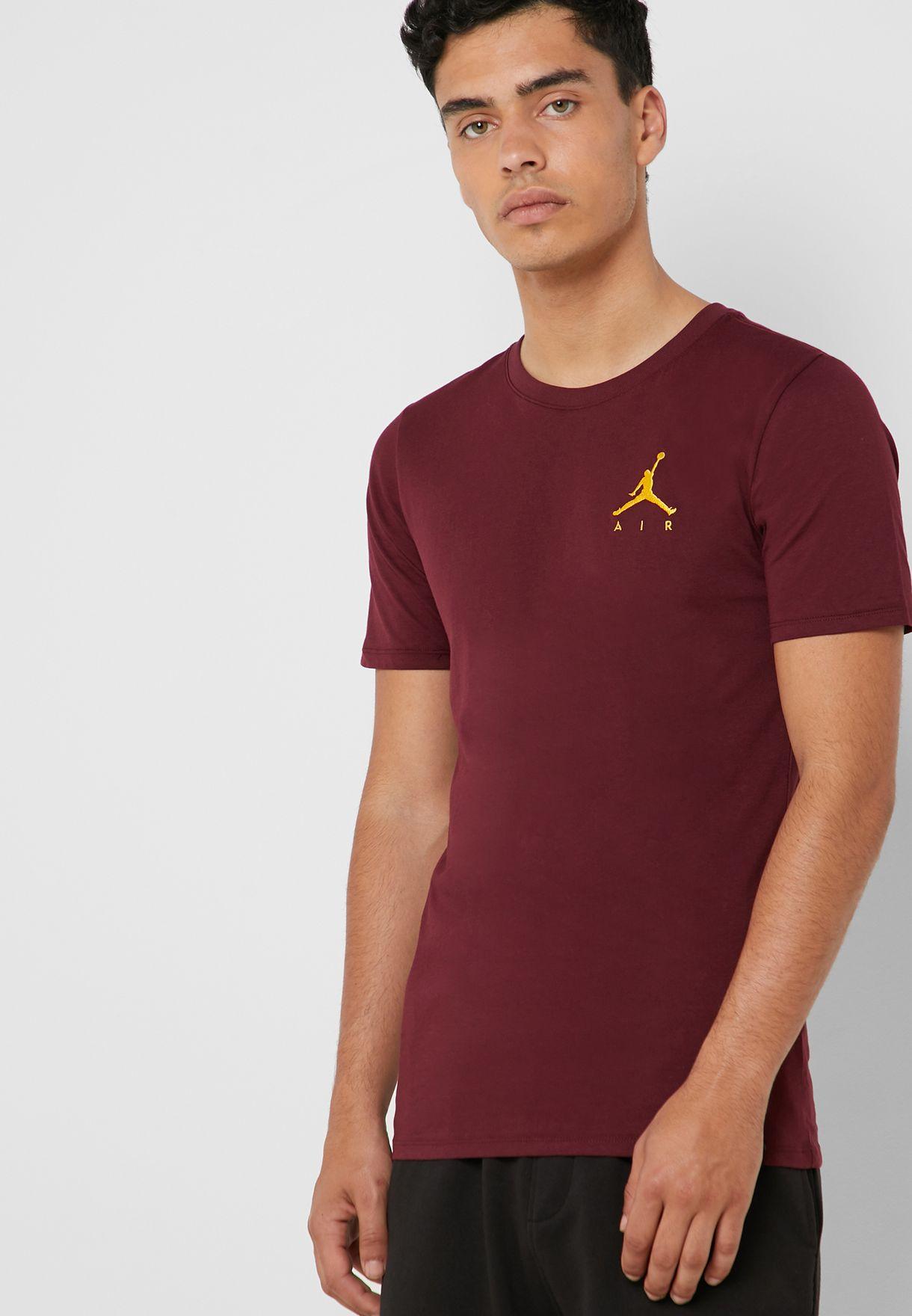 995d320b2b40eb Shop Nike red Air Jordan Jumpman T-Shirt AH5296-681 for Men in UAE ...