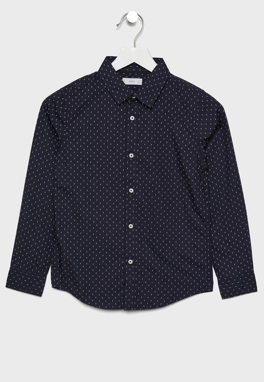 قميص بطبعات صغيرة