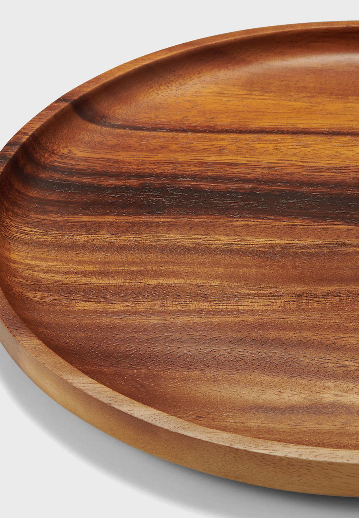 صينية مستديرة من الخشب