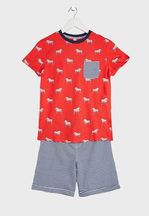 Youth Lion Print Pyjama Set