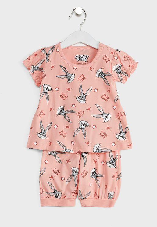 Infant Bugs Bunny Top + Shorts Set