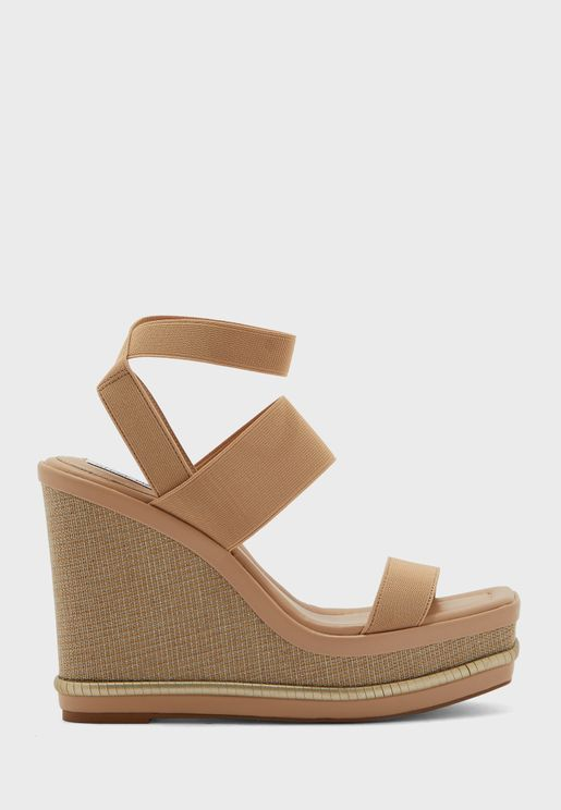 Ankle Strap High Heel Wedges