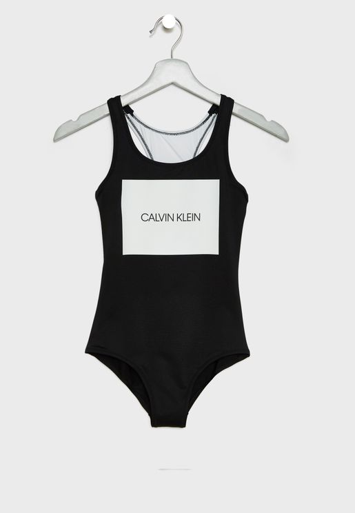 Teen Logo Swimsuit