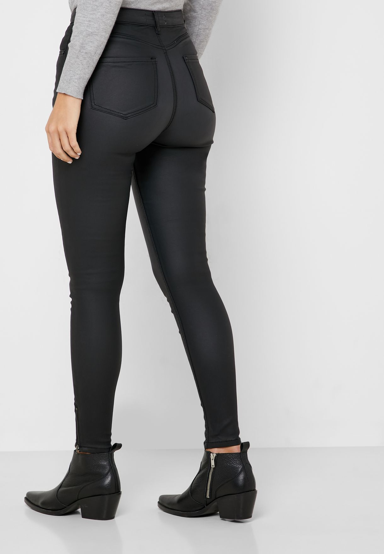 Shape And Lift Coated Jeans