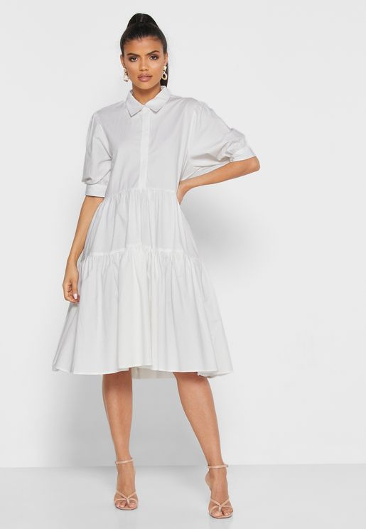 Oversized Ruffle Hem Dress