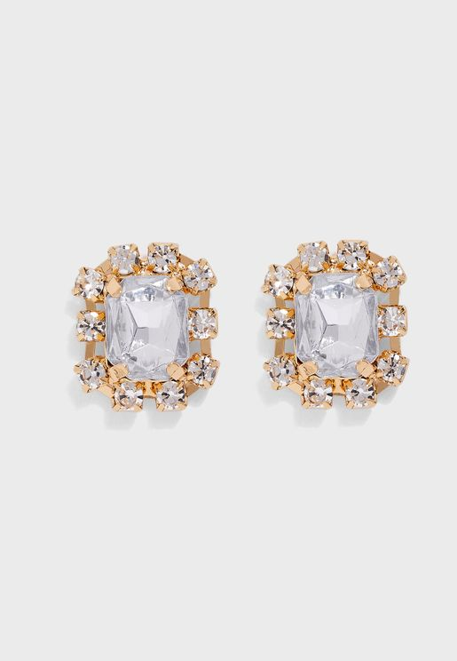 Gem Crystal Stud Earrings