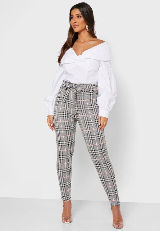 Jacquard Ankle Grazer Pants