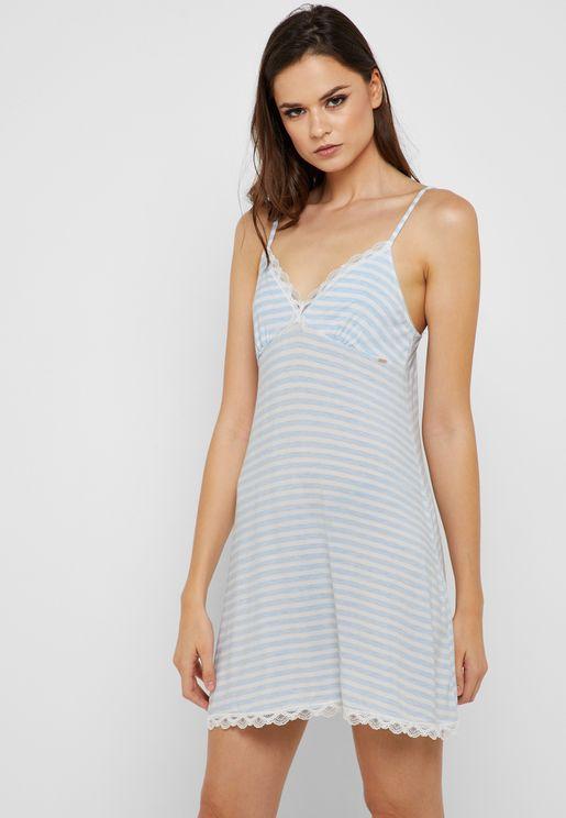 Striped Night Dress