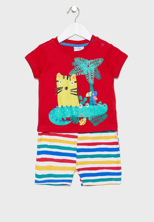 Infant Jungle T-Shirt + Shorts Set