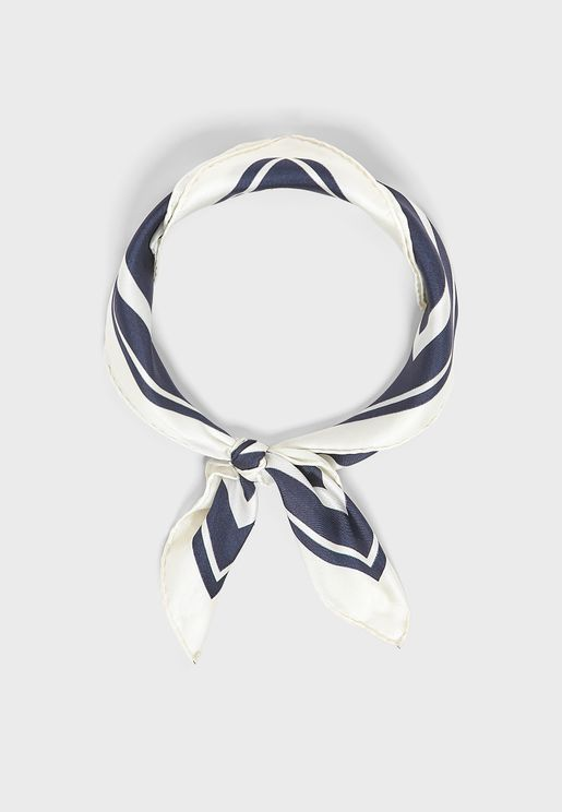 Stripe Silk Scarve