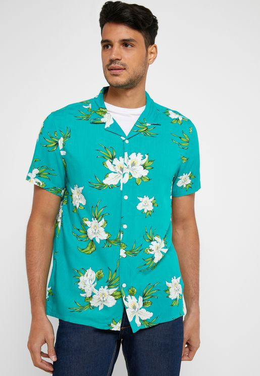 Bali Flower Print Shirt