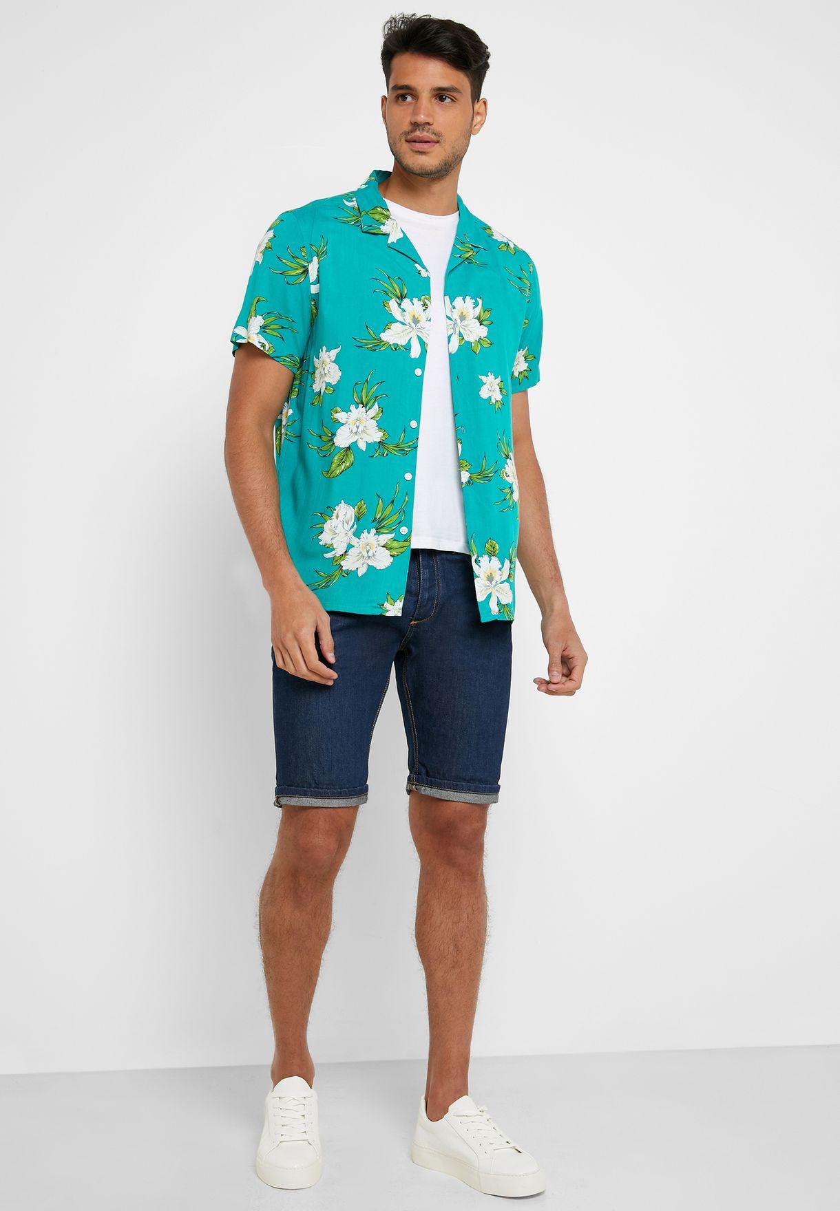 Bali Flower Print Regular Fit Shirt