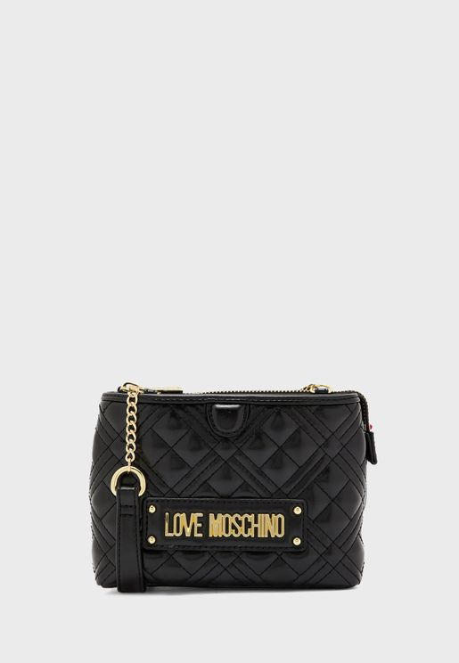 Quilted Zip Closure Crossbody