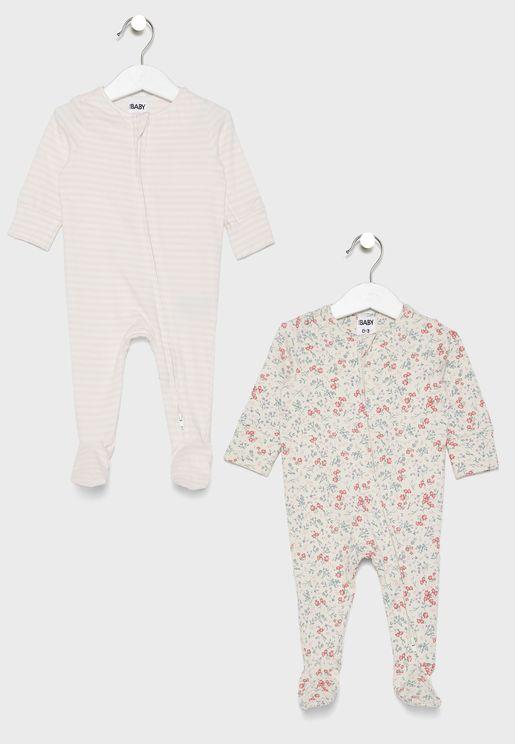 Infant 3 Pack Zip Romper