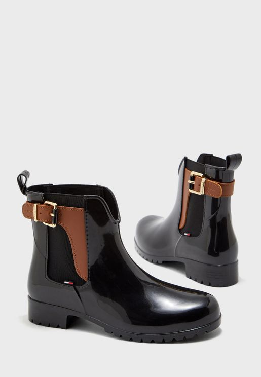 Buckled Detail Ankle Boot
