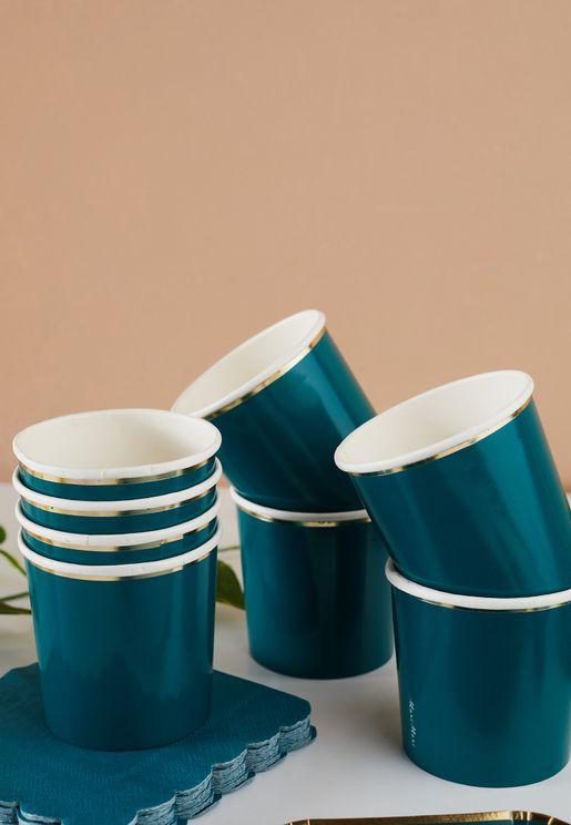 Dark Teal Tumbler Cups
