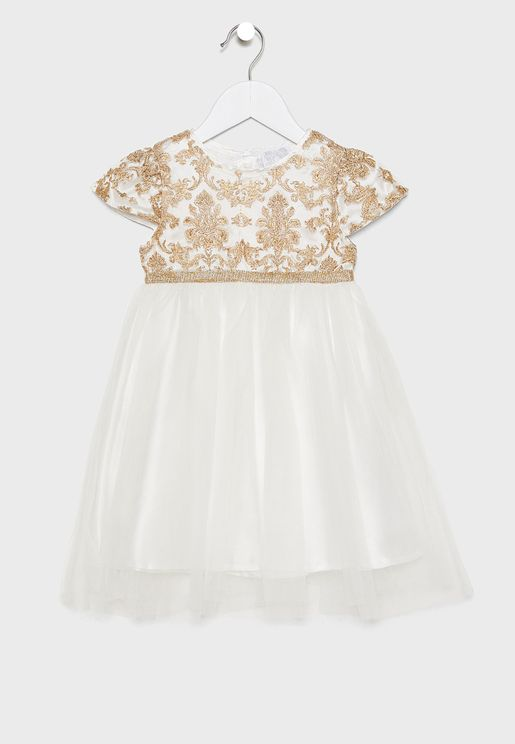 Kids Embroidered Bodice Dress