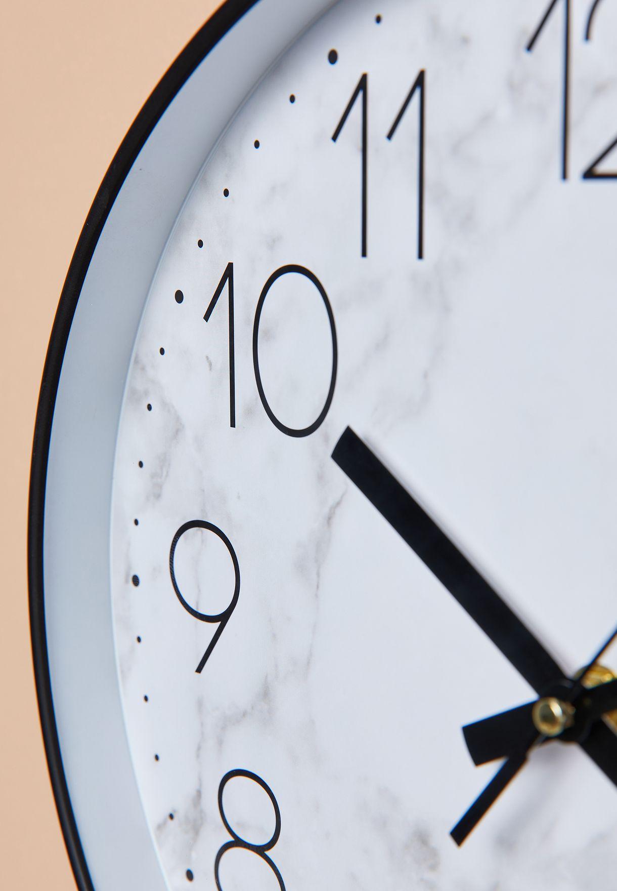 ساعة حائط رخامية