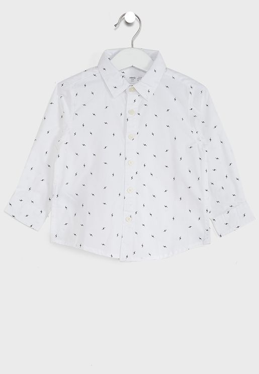 Infant Thunder Print Shirt