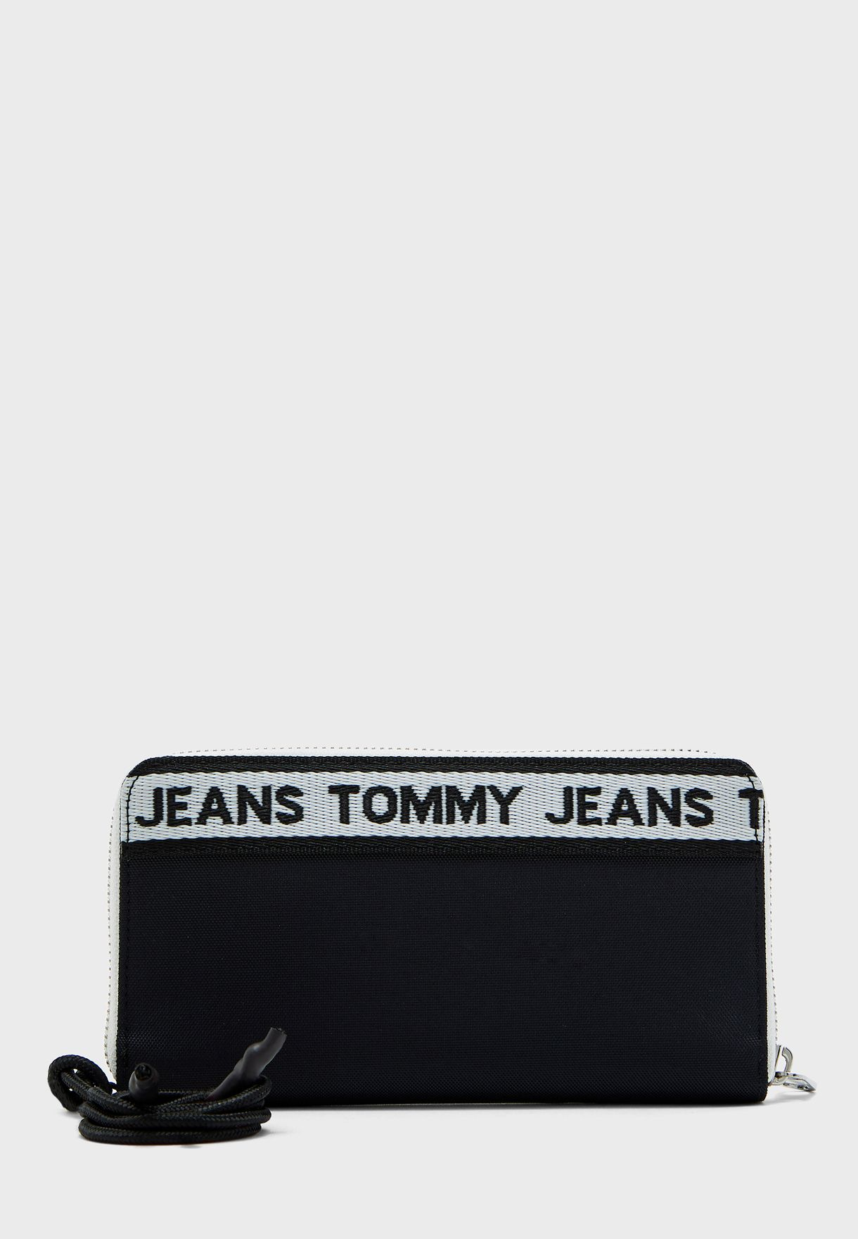 Logo Tape Zip Detail Purse