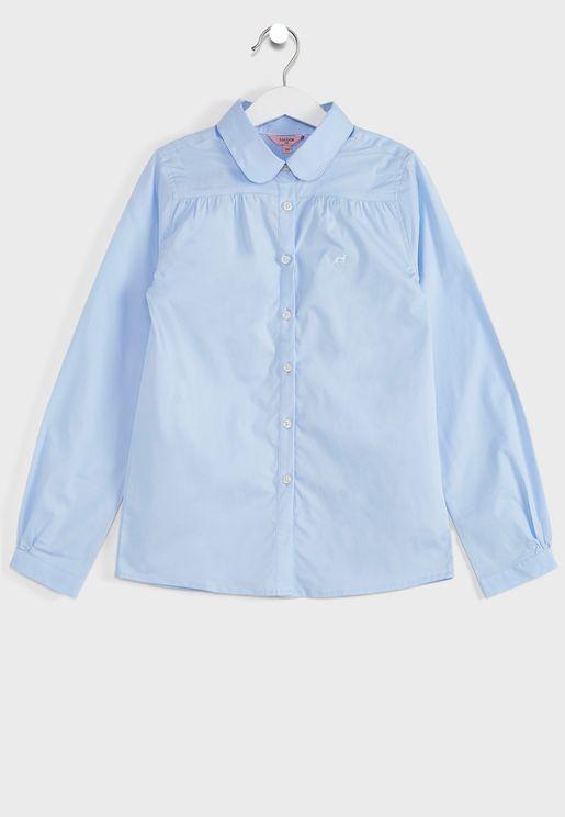 Kids Pleated Shirt